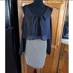 NWT Cold Shoulder Dress by Emerald Sundae XL